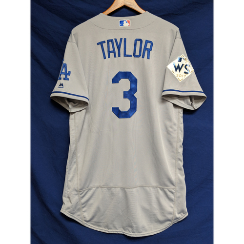Photo of Chris Taylor 2017 Road World Series Team-Issued Jersey