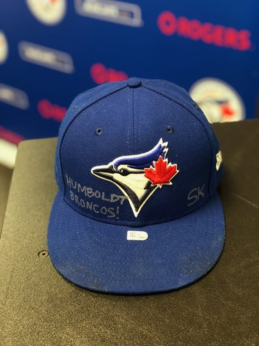 Humboldt Broncos Charity Auction - Authenticated Game Used Marcus Stroman Cap worn on April 7, 2018