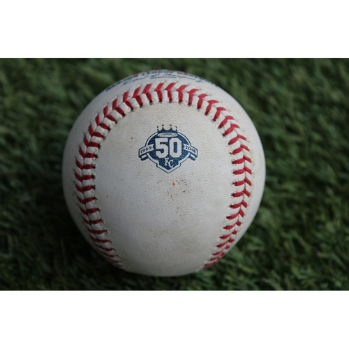 Photo of Game-Used Baseball: Mikie Mahtook 194th Career Hit (DET @ KC - 8/28/18)