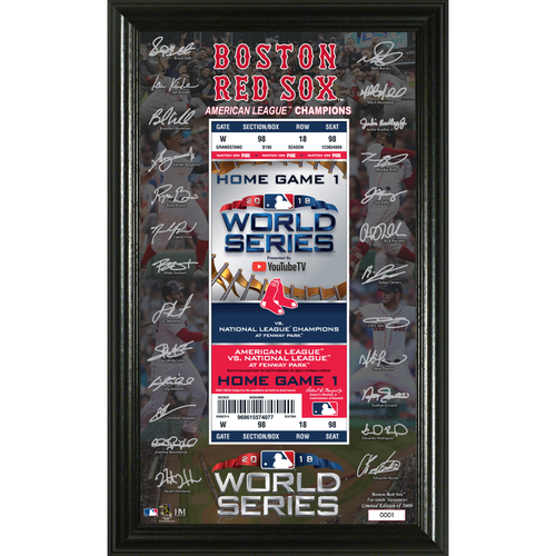 Photo of Boston Red Sox 2018 World Series Signature Ticket