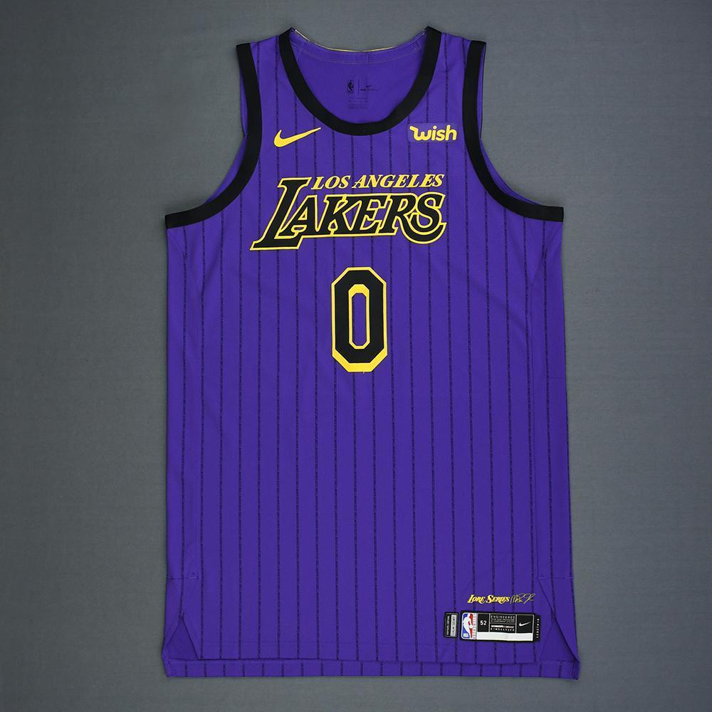 hot sale online 2dded b71de Kyle Kuzma - Los Angeles Lakers - Game-Worn City Edition ...