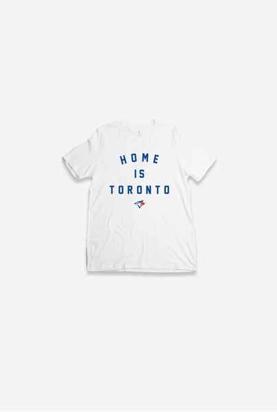 Toronto Blue Jays Youth Home Is Toronto White T-Shirt by Peace Collective