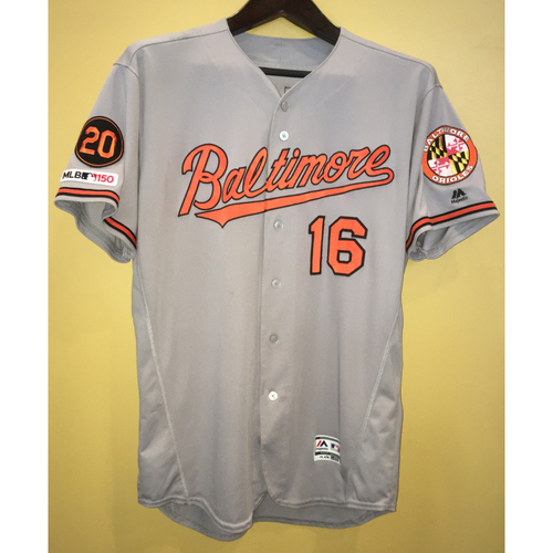 Photo of Trey Mancini - Road Jersey (HR): Game-Worn on 5/15