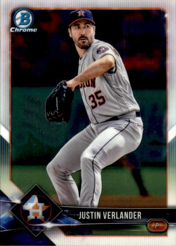 Photo of 2018 Bowman Chrome #15 Justin Verlander
