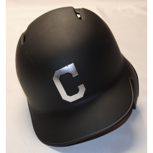 "Photo of Kevin ""Plaw Dawg"" Plawecki Cleveland Indians Game-Used 2019 Players' Weekend Helmet"