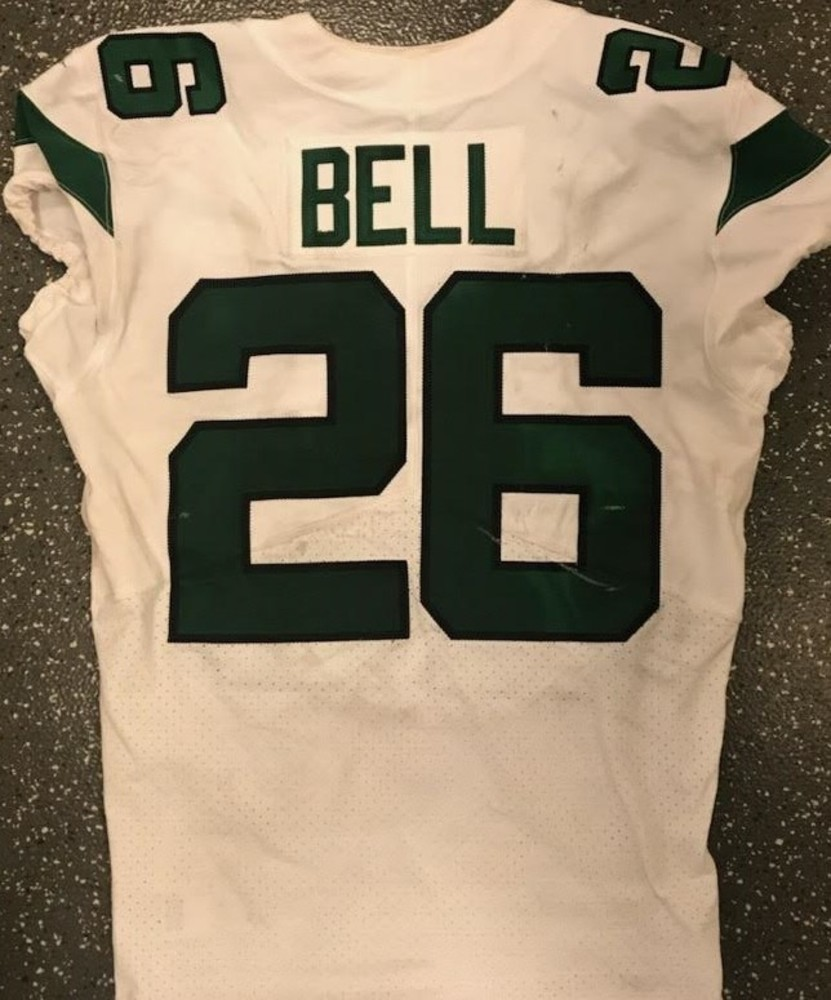 NFL Auction | Crucial Catch - Le'Veon Bell Game Worn Jets Jersey ...