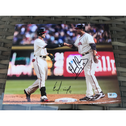 Photo of Coach Eddie Perez And Ender Inciarte MLB Authenticated Autographed Photo