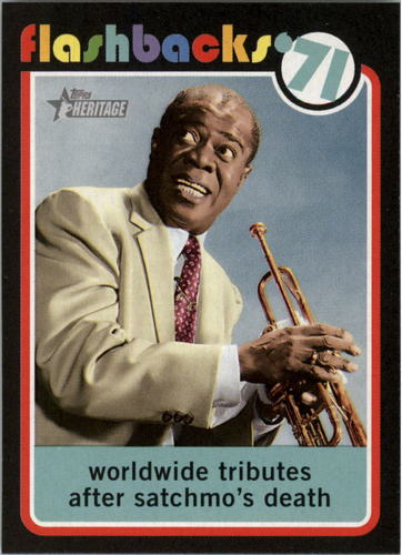 Photo of 2020 Topps Heritage News Flashbacks #NF15 Louie Armstrong passes away