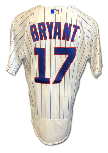 Photo of Kris Bryant Game-Used Jersey -- Cardinals vs. Cubs -- 9/7/2020 -- Bryant: 2 for 5 -- Size 46T + .5S
