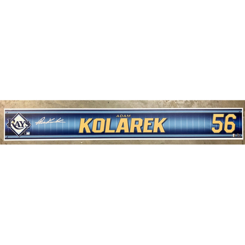 Photo of Rays Baseball Foundation: Team Issued Autographed Locker Tag - Adam Kolarek