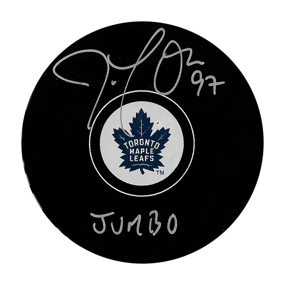 Joe Thornton Autographed Toronto Maple Leafs Puck w/JUMBO Inscription