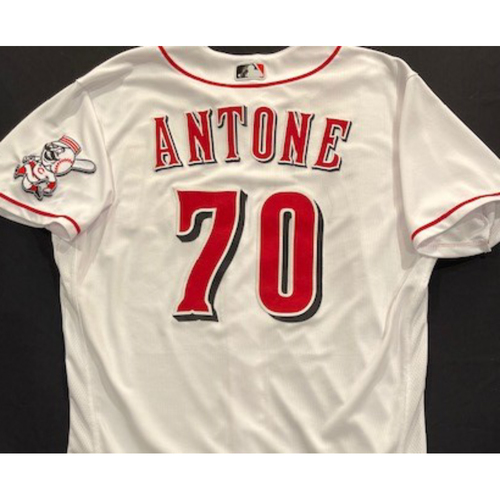 Photo of Tejay Antone -- 2020 Home White Jersey -- Team Issued -- Size 48