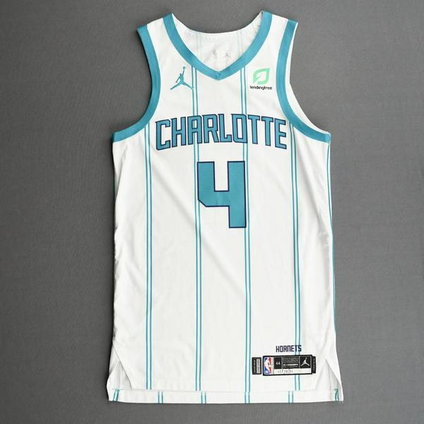 Image of Devonte' Graham - Charlotte Hornets - Kia NBA Tip-Off 2020 - Game-Worn Association Edition Jersey - Double-Double