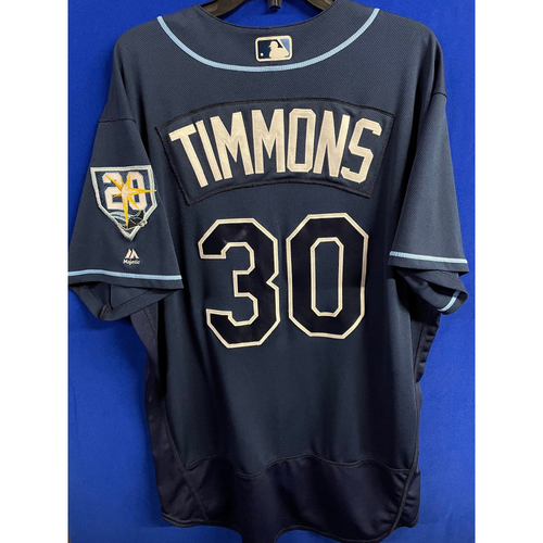 Photo of Game Used Navy Jersey: Ozzie Timmons - First Season as First Base Coach - September 29, 2018 v TOR