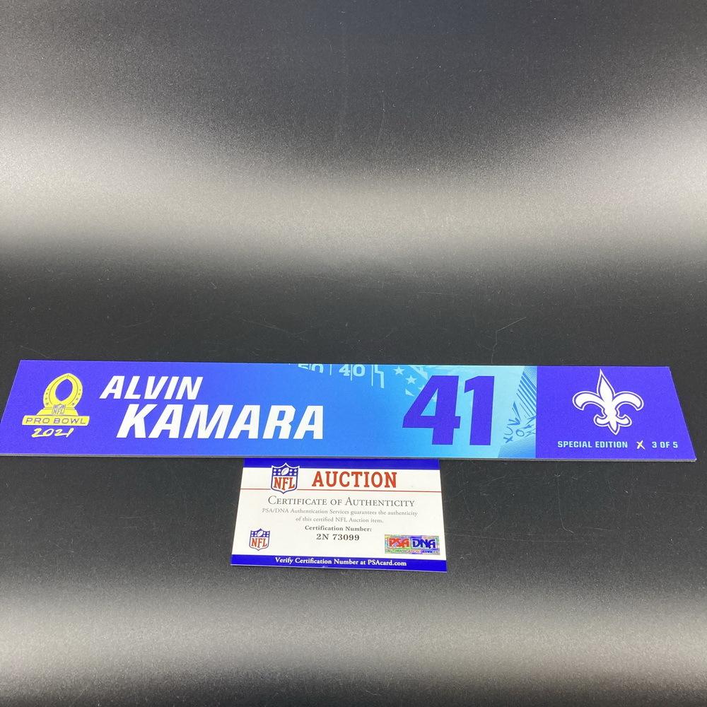 NFL - Saints Alvin Kamara 2021 Pro Bowl Locker Nameplate Special Edition #3 of 5