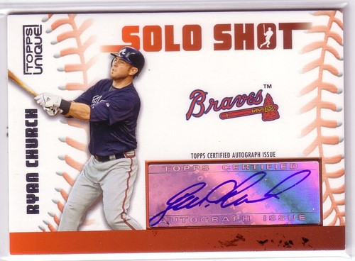 Photo of 2009 Topps Unique Solo Shots Autographs #RC Ryan Church