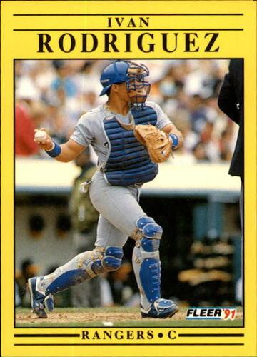Photo of 1991 Fleer Update #62 Ivan Rodriguez Rookie Card