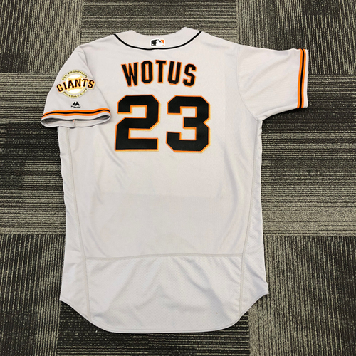 San Francisco Giants -2017 Game-Used Road Alternate Jersey worn by #23 Ron Wotus