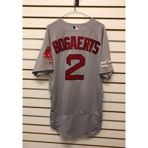 Photo of Xander Bogaerts Game-Used October 5, 2017 ALDS Game 1 Road Jersey