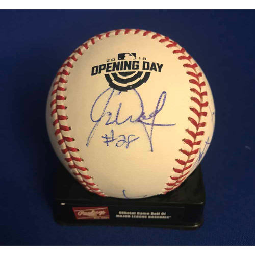 Photo of UMPS CARE AUCTION: Seattle Mariners Opening Day Baseball Signed by Umpire Crew