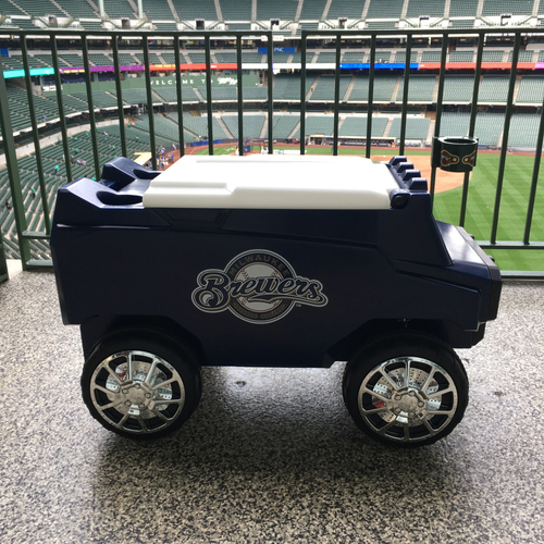 Photo of Brewers Team Signed Cooler and Tailgate