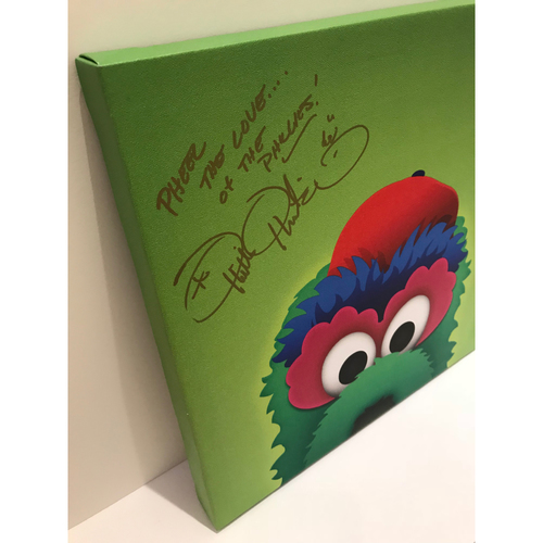 Photo of Autographed Phillie Phanatic Canvas Print - Phillies