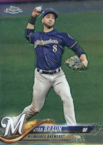 Photo of 2018 Topps Chrome #89 Ryan Braun