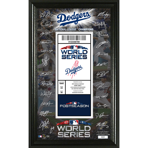 Photo of Los Angeles Dodgers 2018 World Series Signature Ticket