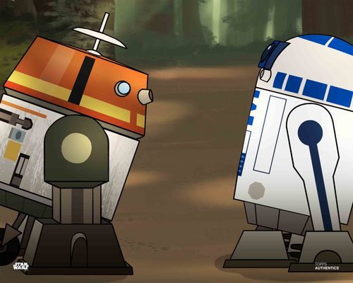 Chopper and R2-D2