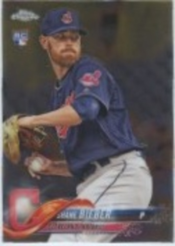 Photo of 2018 Topps Chrome Update #HMT59 Shane Bieber RC
