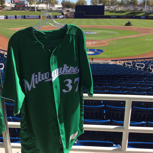 Photo of Matt Albers 2018 Team-Issued St. Patrick's Day Jersey