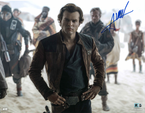 Alden Ehrenreich As Han Solo  11X14 AUTOGRPAHED IN 'BLUE' INK PHOTO