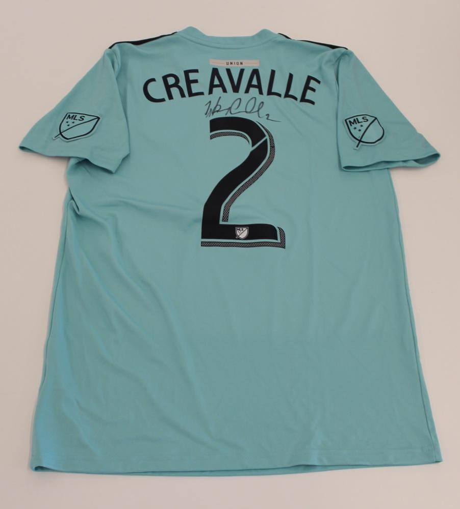 Warren Creavalle Philadelphia Union Used, Signed 2019 Adidas Parley Jersey