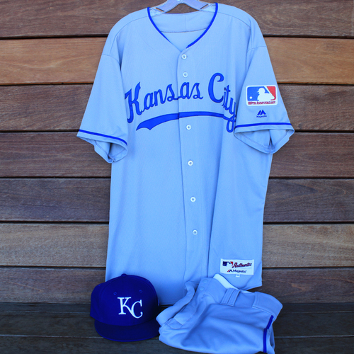 Photo of Game-Used 1969 Throwback Jersey, Pants and Cap: Vance Wilson (Jersey Size 50 - KC @ WSH  - 7/6/19)