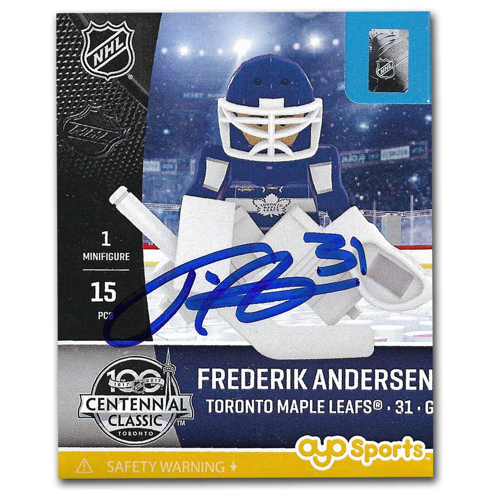 Frederik Andersen Autographed Toronto Maple Leafs OYO Figure
