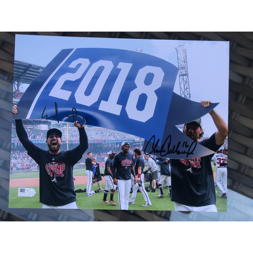 Photo of Ender Inciarte And Charlie Culberson Celebrate the Divisional Title MLB Authenticated Autographed Photo