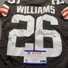 Crucial Catch - Browns Greedy Williams Signed Game Issued Jersey Size 38