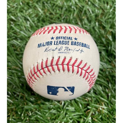 Photo of Game Used Baseball: Mike Brosseau RBI (Austin Meadows Scores) double off Wander Suero - Bottom 5 - June 8, 2021 WSH