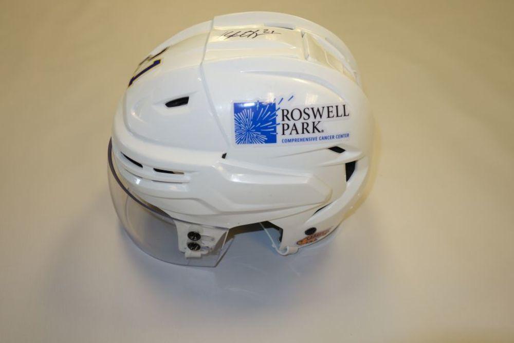 Kyle Okposo 2020-21 Autographed Game-Used Helmet