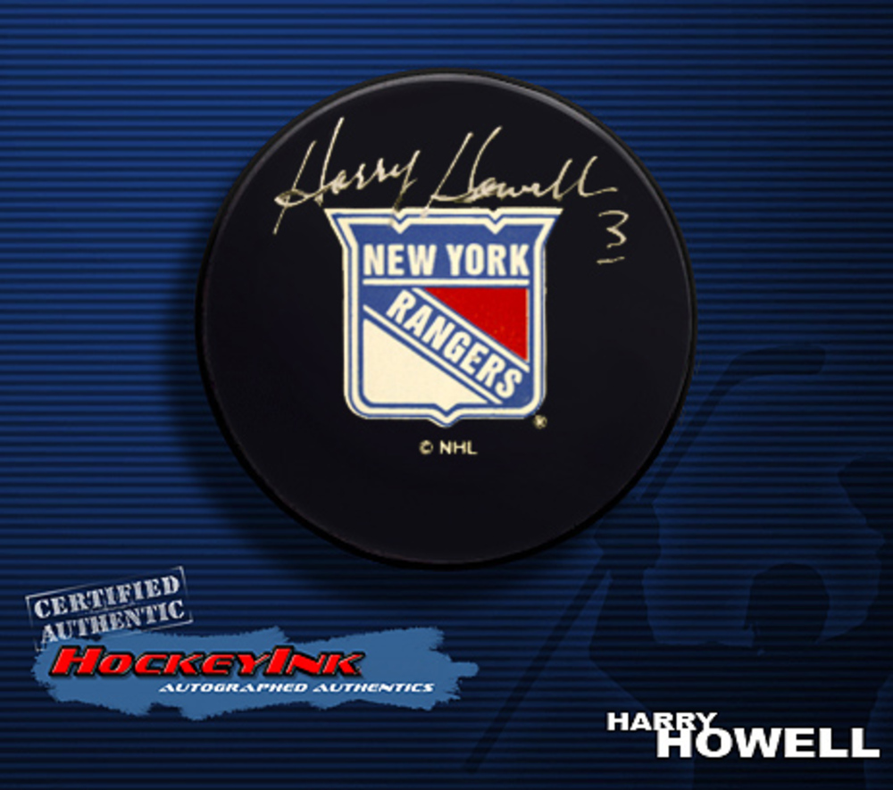 HARRY HOWELL Signed New York Rangers Puck