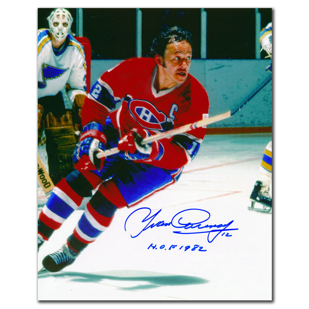 9b76d4a4edc Yvan Cournoyer Montreal Canadiens HOF RUSH Autographed 8x10 - NHL ...