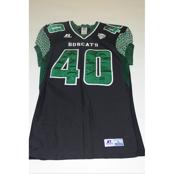 Photo of # 40 - Official OHIO BOBCATS Game Worn Football Jersey (2011) - SIZE LARGE