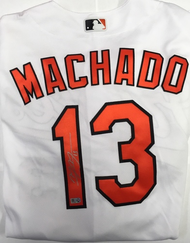 Photo of Manny Machado Autographed Authentic Orioles Jersey