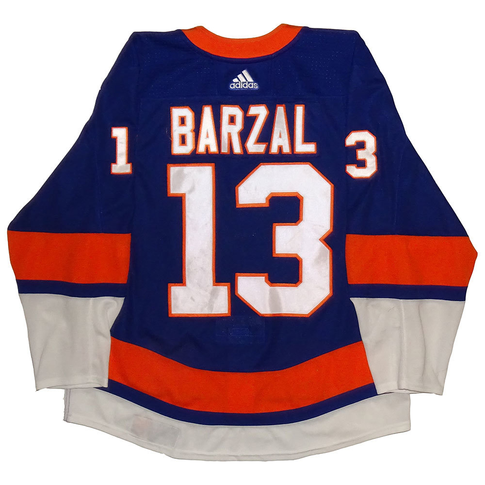 Mathew Barzal - Game Worn Rookie Home Jersey - 2017-18 Season - New York Islanders