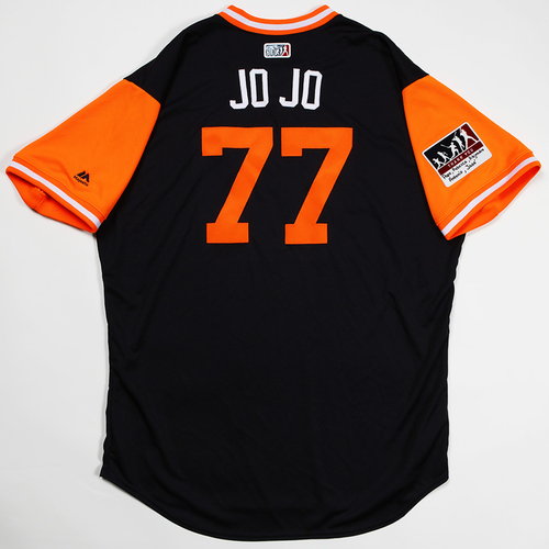 "Photo of Joe ""Jo Jo"" Jimenez Detroit Tigers Game-Used 2018 Players' Weekend Jersey"