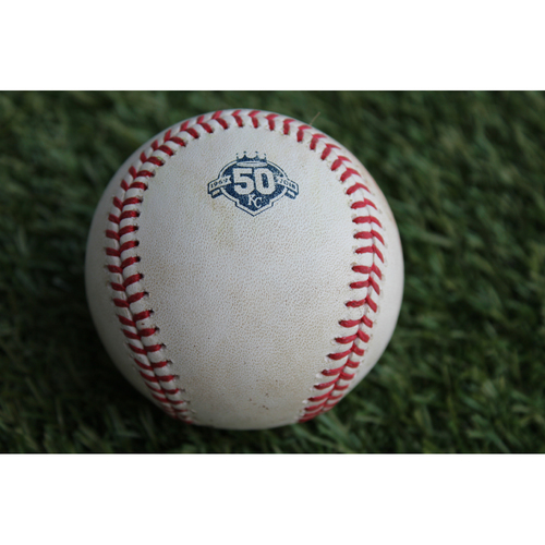 Photo of Game-Used Baseball: James McCann 152nd Career Hit (DET @ KC - 8/28/18)