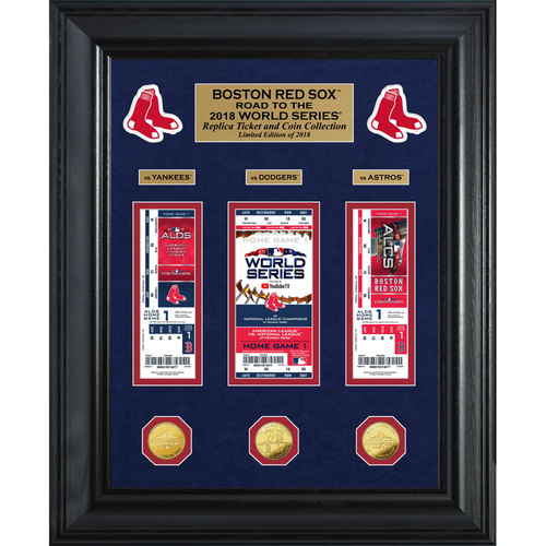 "Photo of Boston Red Sox 2018 AL Champions ""Road to the World Series"" Deluxe Gold Coin & Ticket Collection"