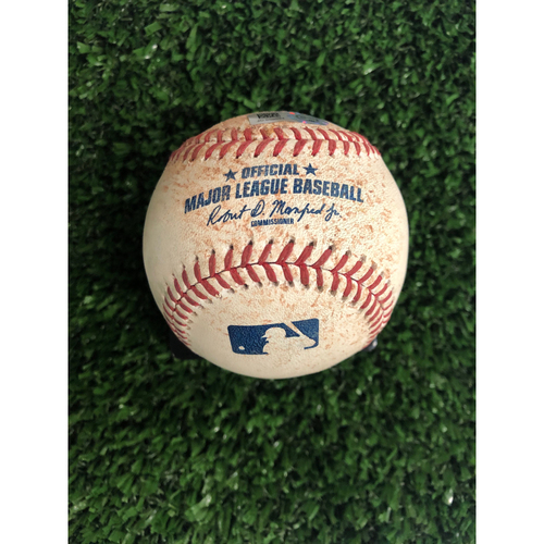 Photo of Ozzie Albies Game Used Hit Single Ball - 5/31/2019