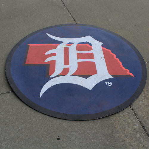 Game-Used On-Deck Circle: MLB in Omaha - Detroit Tigers (DET @ KC - 6/13/19)