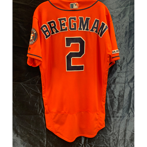 san francisco 6902a b081d Astros Auctions | 2019 Alex Bregman Orange Alt Game Used ...